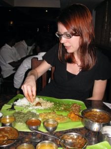 Eating from a Banana Leaf